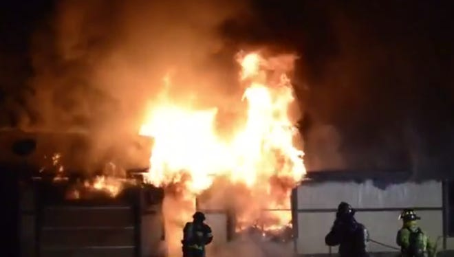 A still from video provided to our partners at WINK News of a fire that destroyed a San Carlos Park home.