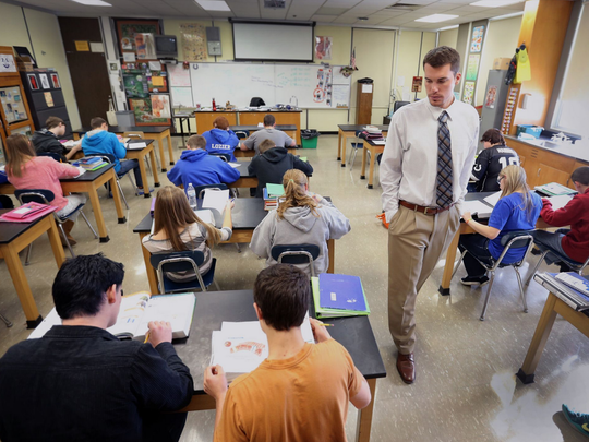 Alex Meyer earned $63/day subbing at Greensburg schools.
