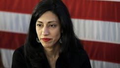 In this April 17, 2016, file photo, Huma Abedin, aide