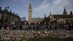 Floral tributes to the victims of the March 22 terror