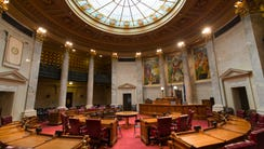 The Senate chambers in the state Capitol in Madison.