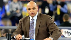 Former NBA player and commentator Charles Barkley looks