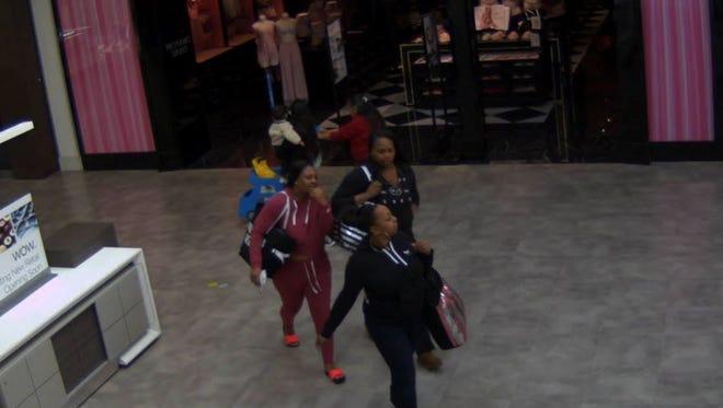 Three women were seen on video surveillance footage entering the store at Northridge Mall.