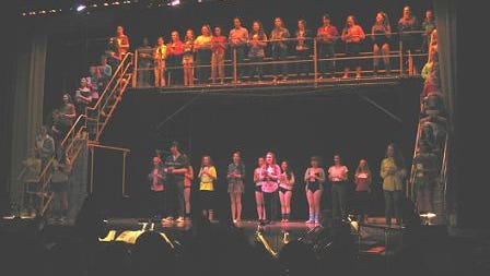 """The cast of """"Fame - The Musical."""" The energy and talent never slowed up from the first note by the large orchestra."""