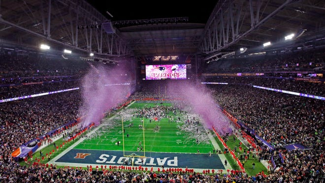 Glendale hosts Super Bowl XLIX at the University of Phoenix Stadium in February. This is the third Super Bowl held in Arizona; the previous game was held at the same venue in 2008, and the first was held at Sun Devil Stadium in Tempe in 1996.