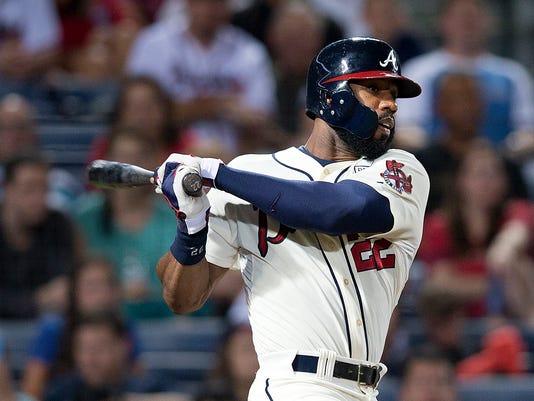 Braves Cardinals Trade Baseball (2)