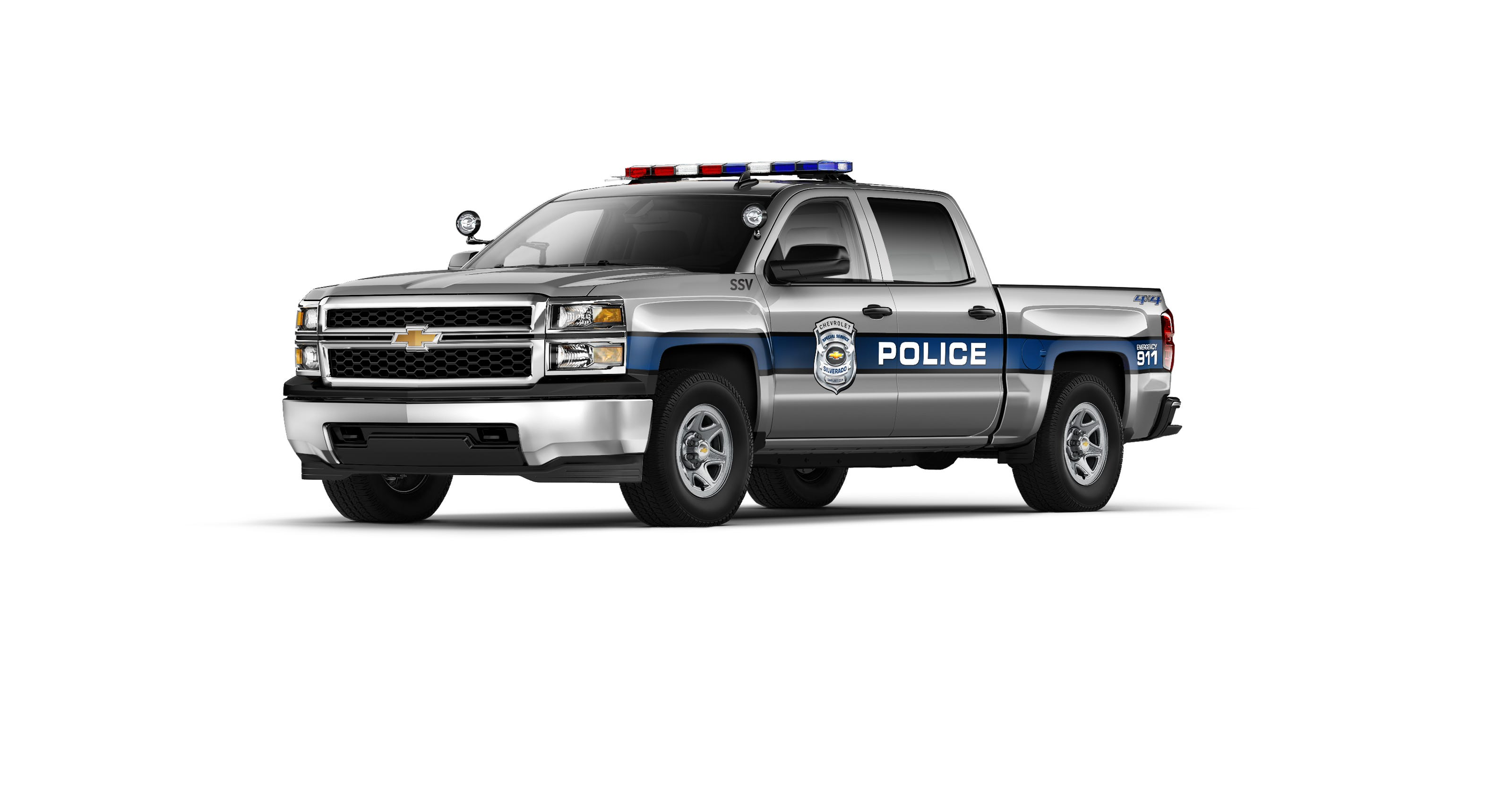 Chevy decks out first Silverado police truck
