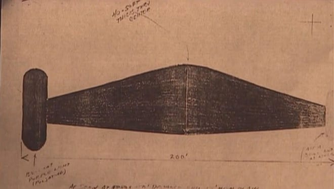 The government's Project Blue Book investigated the Brazoria UFO sighting in the 1960s.
