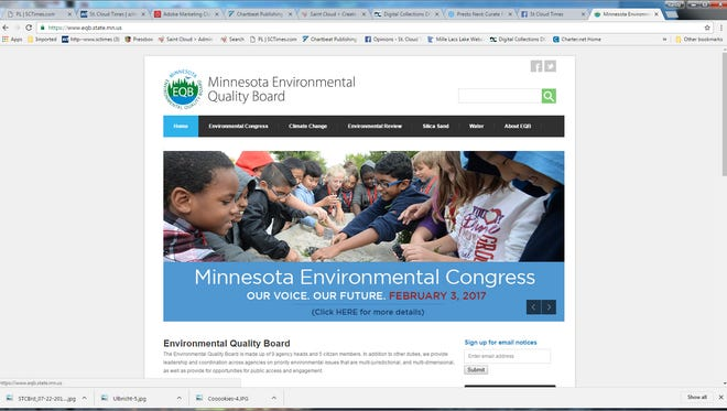 The Minnesota Environmental Quality Board's website.