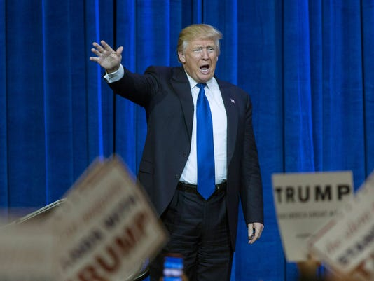 Donald Trump Holds Campaign Rally In Louisville