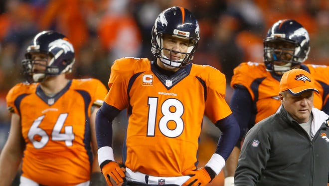 Peyton Manning has  been one-and-done nine times in his playoff career.