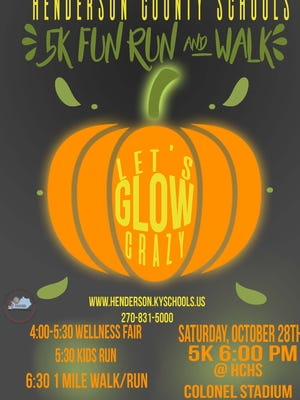 The flyer from this year's Let's Glow Crazy