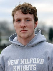 New Milford Junior linebacker Matt McElroy leader of