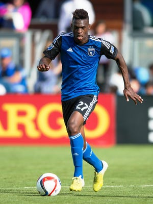 Northville High grad Fatai Alashe is making an impact in his rookie season with the MLS San Jose Earthquakes.