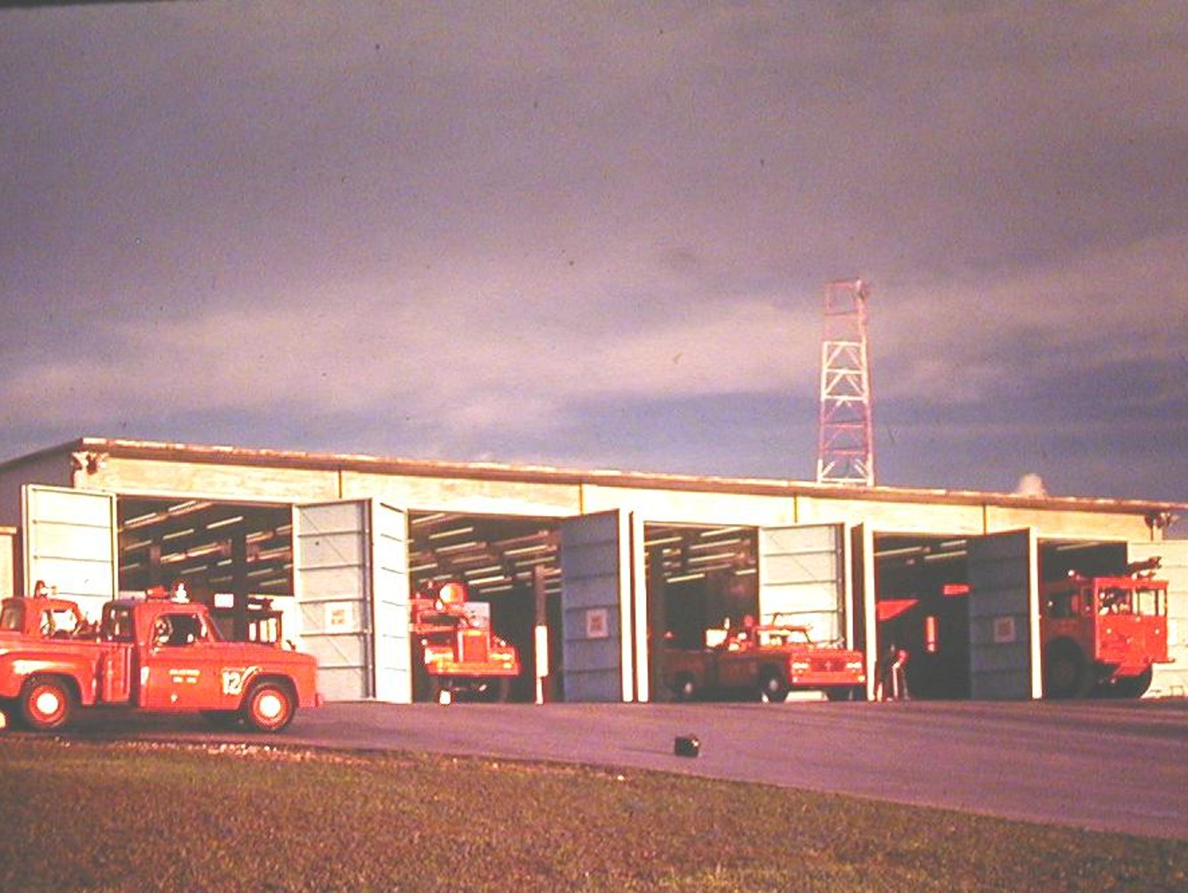 Andersen Air Force Base fire station in the 1960s,