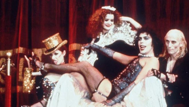 Nell Campbell (from left), Patricia Quinn, Tim Curry and show creator Richard O'Brien reprised their roles from the original 'Rocky Horror' stage show for the 1973 movie.