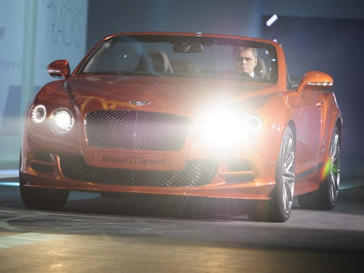 The new Bentley Continental GT Speed is presented during the Volkswagen Group preview