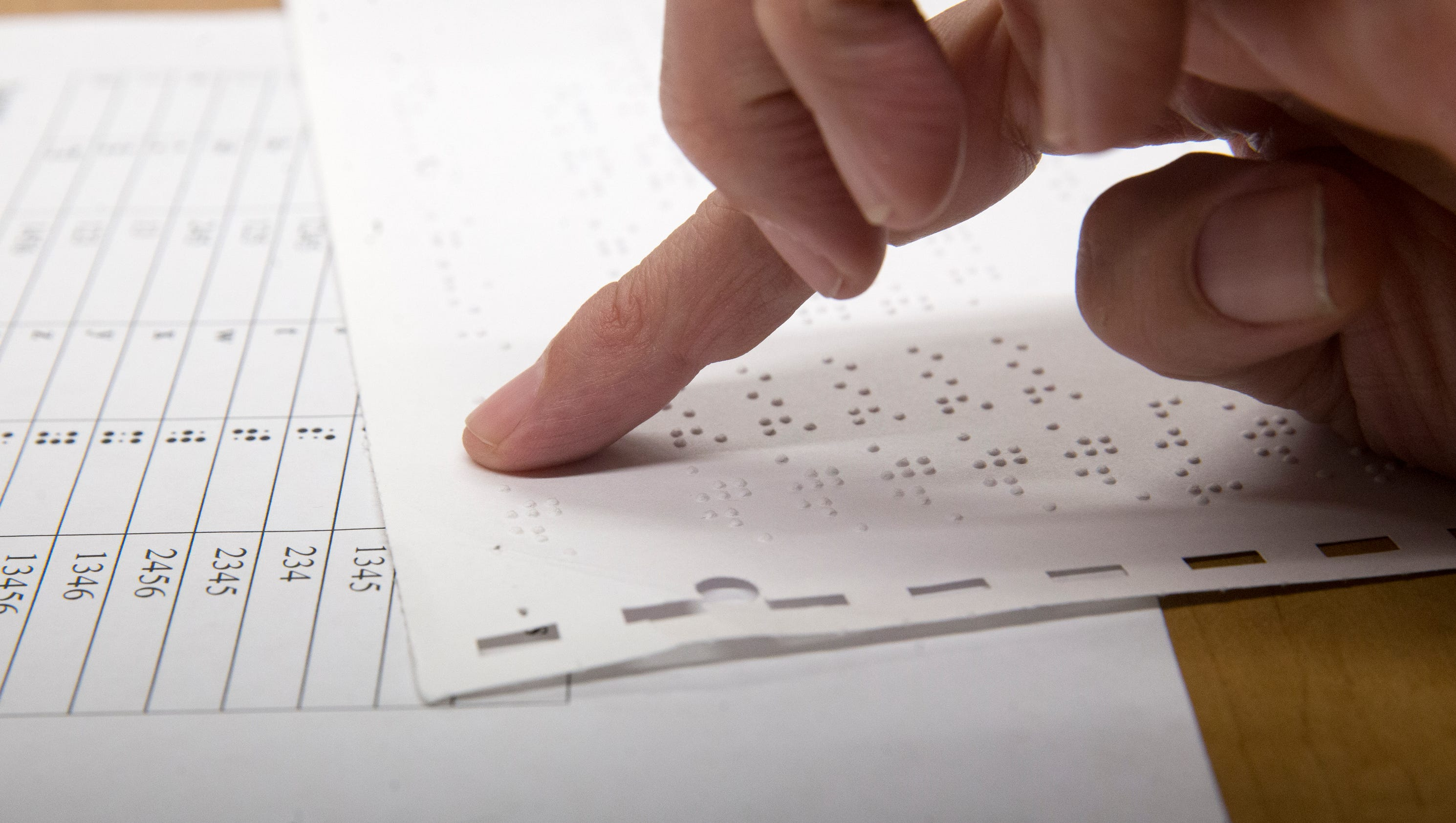 Local Teacher Develops Navajo Braille Code