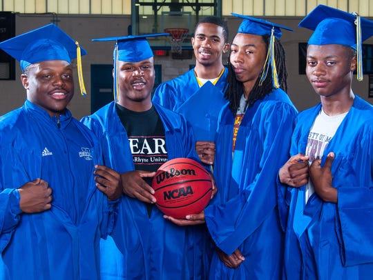 All six seniors on the 2014-15 Wicomico High basketball