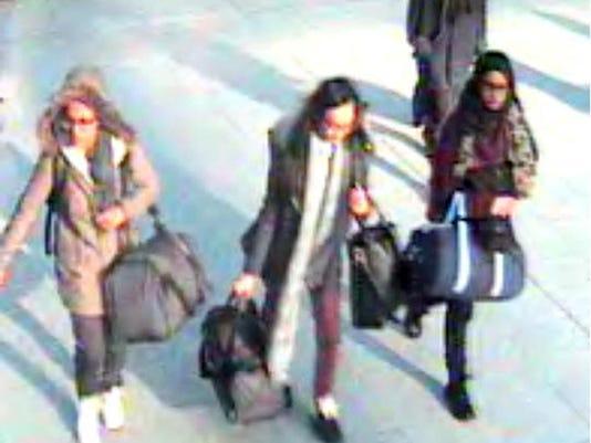 CORRECTION Britain Syria Missing Girls