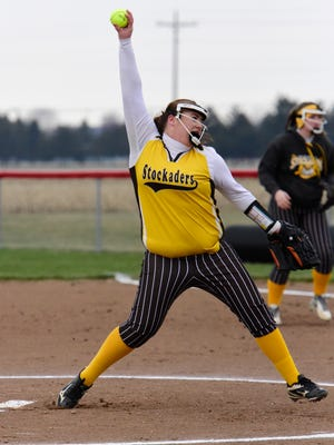 Old Fort's Sarah Hossler earned the win in the circle Friday.