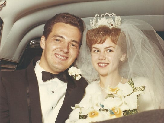 David and Kathleen Broad on their wedding day in 1965