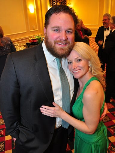 HEART BALL: Ryan Smith and Carmen Sandpiper at the Heart Ball Saturday night in Wilmington. The American Heart Association's 54th annual event was sold out.