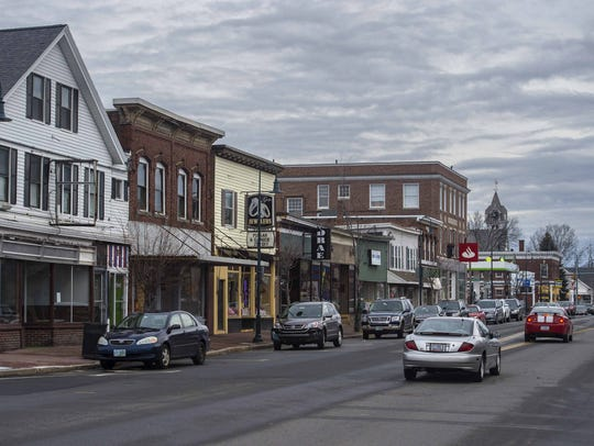 West Broadway in Derry, New Hampshire seen on Thursday,