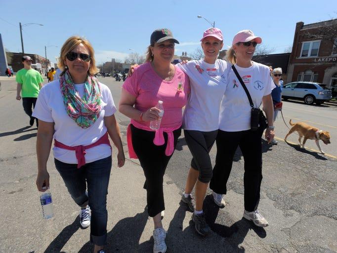 Organizers, Jennifer Lawrence, left, Jennifer Stalker,