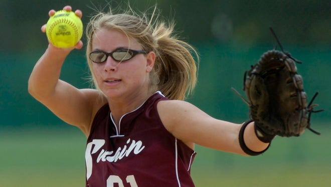 Swain County's Kristen Cook pitches during the NCHSAA 1-A tournament in 2008 at the Walnut Creek Softball Complex.