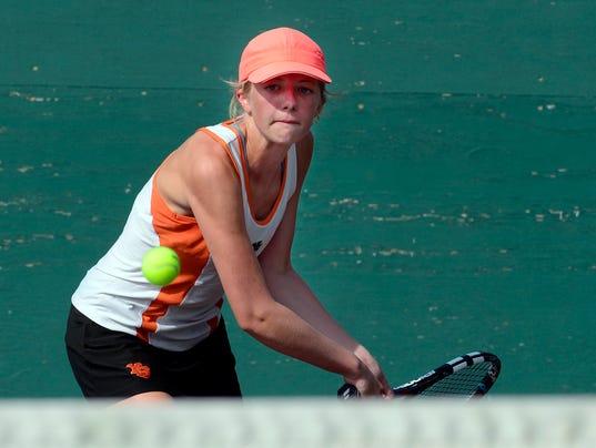 York Suburban vs Dallastown girl's tennis