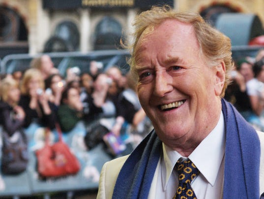 British actor Robert Hardy arrives in Lo