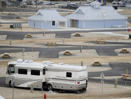 View of the newly reopened Indian River Inlet Campground
