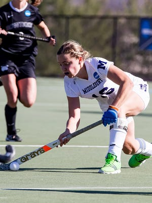 Webster Thomas graduate Shannon Hutteman made 57 straight starts for Division III national field hockey champion, Middlebury College in Vermont.