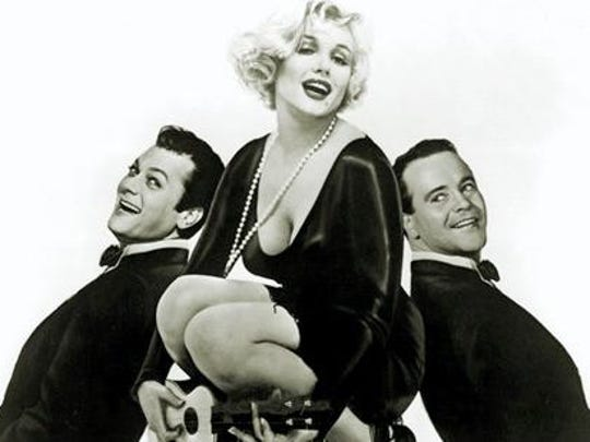 """See """"Some Like it Hot"""" featuring Jack Lemmon, Tony Curtis and Marilyn Monroe on May 18 at the Historic Elsinore Theatre."""