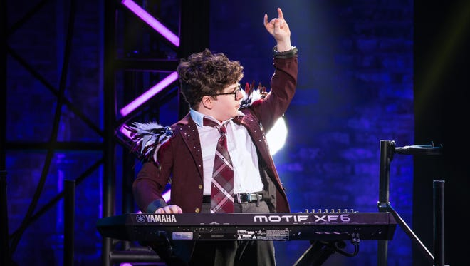 Theo Mitchell-Penner in the School of Rock Tour. The show opens Tuesday, Sept. 18, at Wharton.