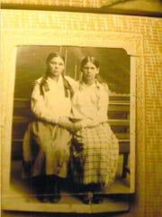 Nina Zimbalyk with her best friend in Ukraine, circa early 1930s.