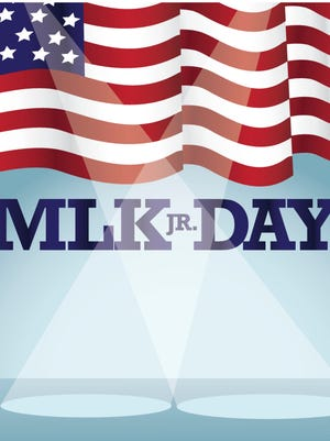 Martin Luther King Day spotlight background
