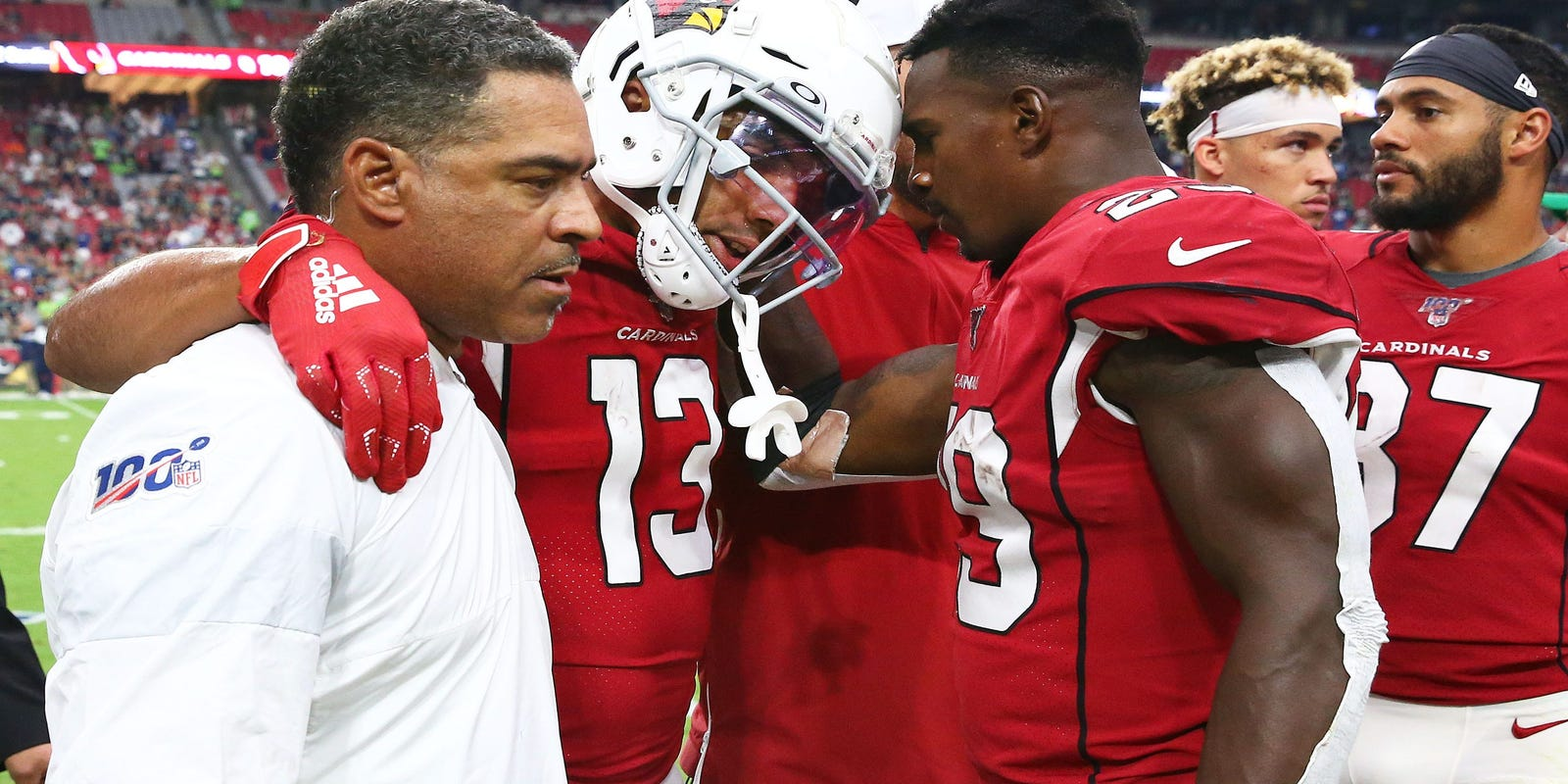 Arizona Cardinals' Christian Kirk escapes season-ending injury but 'not likely for Sunday'
