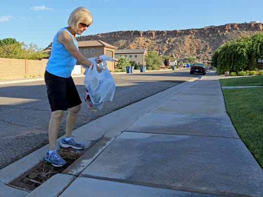 Linda Goduto hopes to inspire other Southern Utah residents to pick up roadside litter while they are out walking.