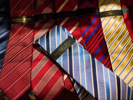 Ties for sale, for $60 each, at the Trump Store in