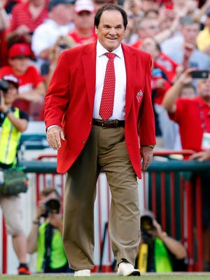 Pete Rose is honored prior to the 2015 MLB All Star Game at Great American Ball Park. MLB commissioner Rob Manfred has decided not uphold Pete Rose's ban from baseball.