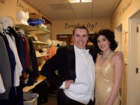 "Sanford senior Thomas Gluodenis and junior Julia Sykora star in today's final production of ""Anything Goes."""
