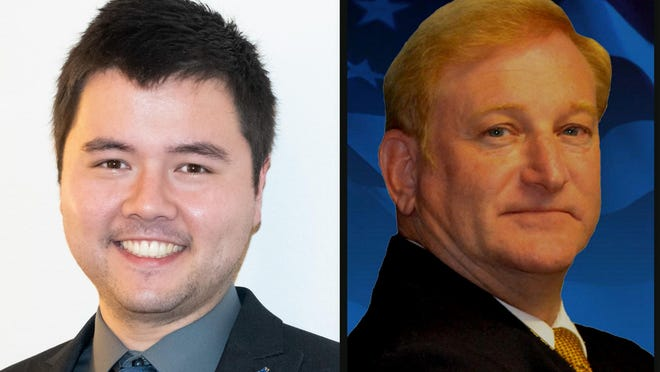 Richard Thripp, left, and Clint Curtis, right, are Democratic candidates for Congess.