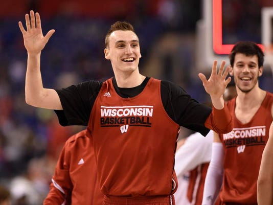 NCAA Basketball: Final Four-Wisconsin Practice