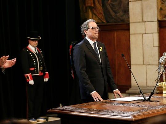 TOPSHOT-SPAIN-CATALONIA-POLITICS-GOVERNMENT