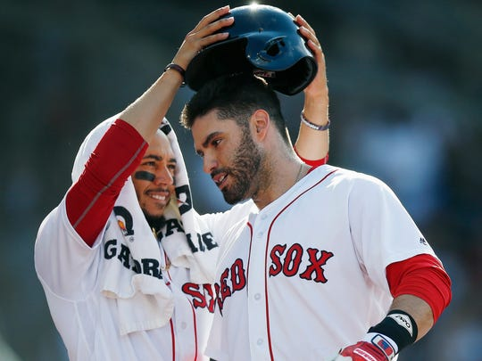 J.D. Martinez became an American League MVP candidate in Boston.