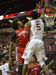 Malik Beasley soars for two points as FSU beat Nicholls State 109-62. Beasley led the team with 23 points on the night.