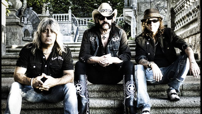"""Motorhead, from left, Mikkey Dee, Lemmy Kilmister and Phil Campbell has released """"Aftershock,"""" its 21st studio album."""