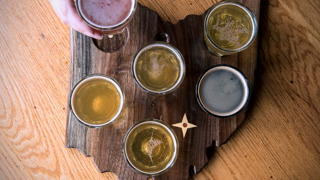 The trail includes Jackie O's Taproom and Production Brewery, which began in 2005, making it the oldest brewery in Athens, Ohio. Customers can purchase a flight of beers served on an Ohio-shaped board.